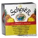 غذای کنسرو گربه میوه آناناس و مرغ محصول schesir ایتالیا